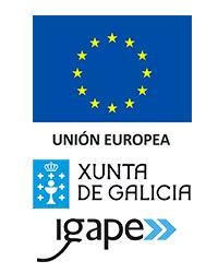 Logo union europea, xunta e igape