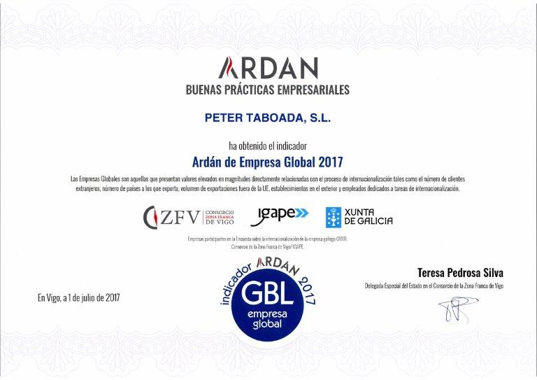 Ardán empresa global 2017