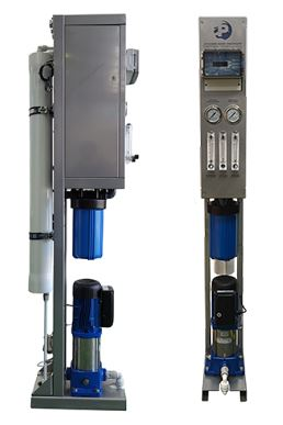 Ultra compact system for reverse osmosis production Fresh water