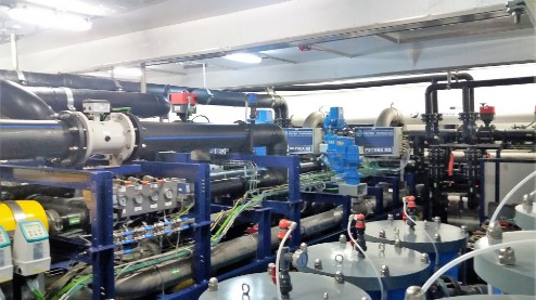Reverse osmosis plant successfully started up