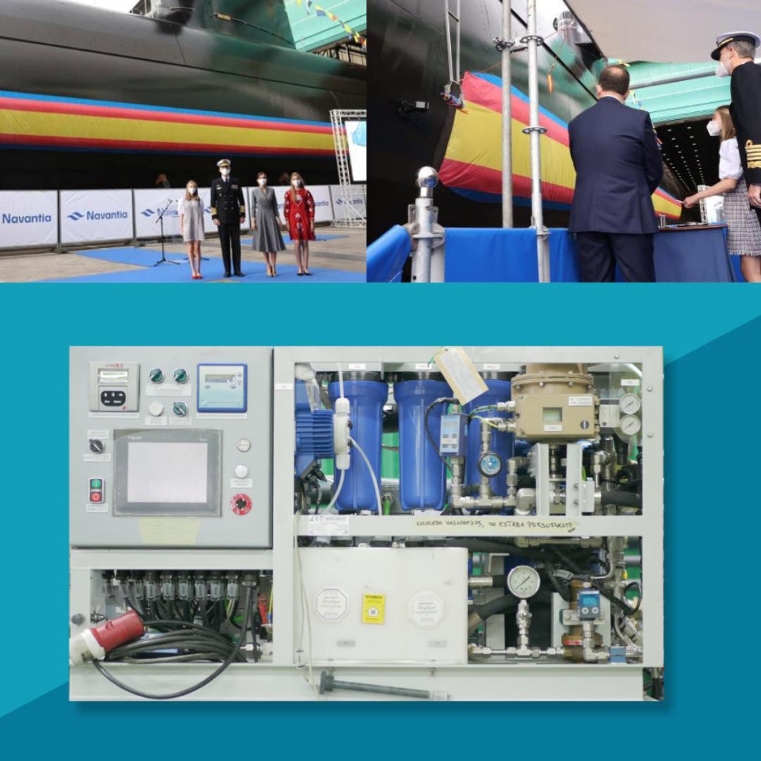 Submarine osmosis plant